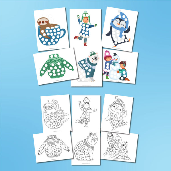 Winter Do A Dot Printables