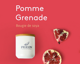 BOUGIE POMME GRENADE / BLANC/ PIGEON