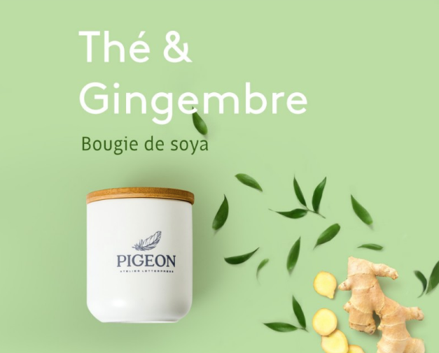 BOUGIE THÉ GINGEMBRE / PIGEON