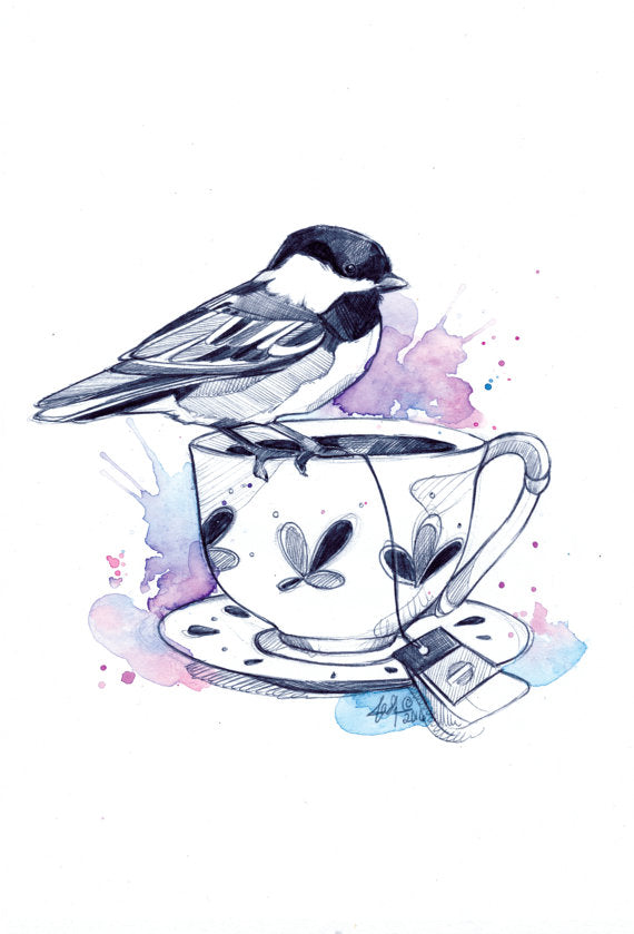 ILLUSTRATION- TEACUP III