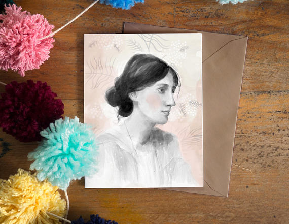 CARTE DE SOUHAIT -Virginia Woolf