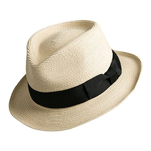 Sedancasesa Men Straw Porkpie Fedora Hat Summer Derby Upturn Brim Sun Jazz  Hats - AllThingsBourbon. 1cf5d700a8c