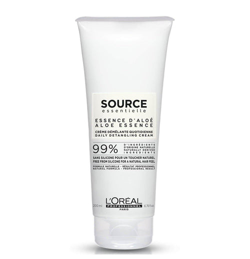 L'Oréal Professionnel Source Essentielle Daily Detangling Hair Cream 250ml 99% natural origin ingredients Free from silicone for a natural hair feel Embrace naturality with the Daily Detangling Balm for normal to thin hair