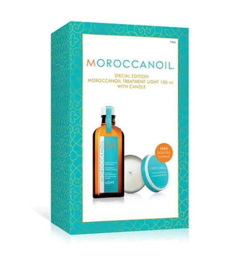 Hair Mask Treatment - Moroccanoil Treatment Light 100ml With Free Candle