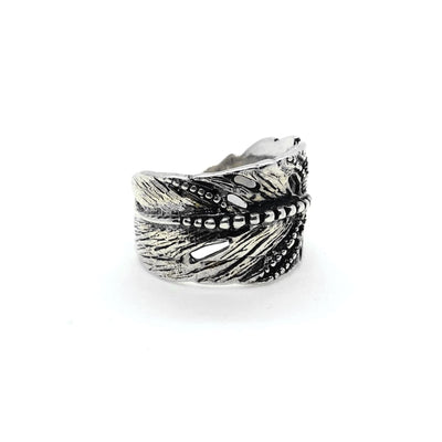 Bohemian Leaf Feather Rings In 925 Sterling Silver Artisan Indian Nature Ring