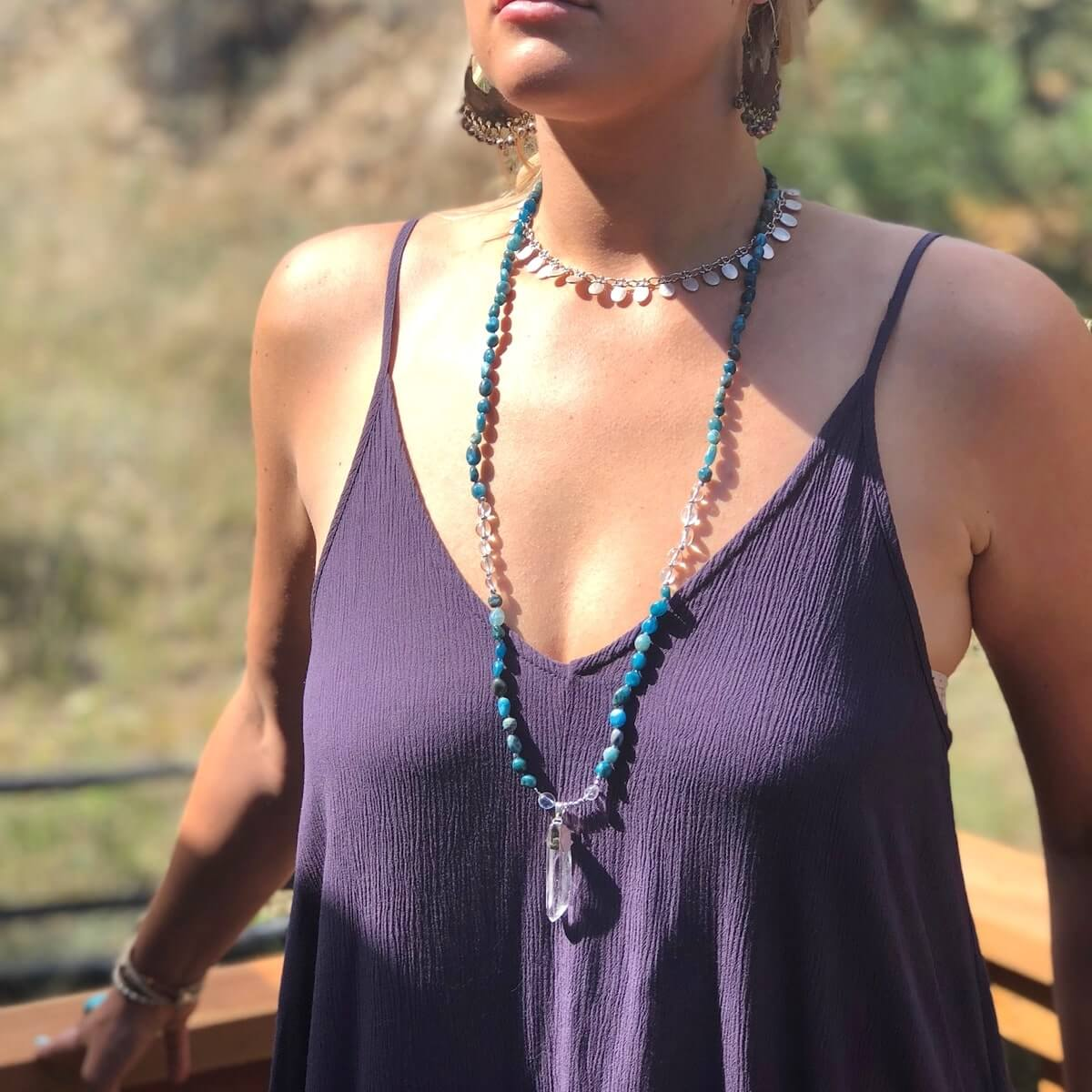 Bondi Quartz Necklace-Necklace-Freya Branwyn