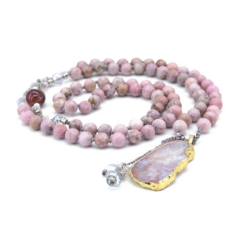 Blush Gilded Agate Necklace