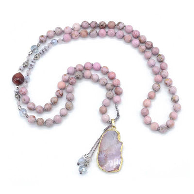 Blush Gilded Agate Necklace-Necklace-Freya Branwyn