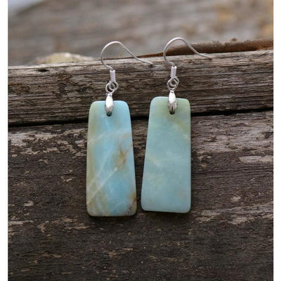 Amazonite Drop Earrings-Accessories-Freya Branwyn