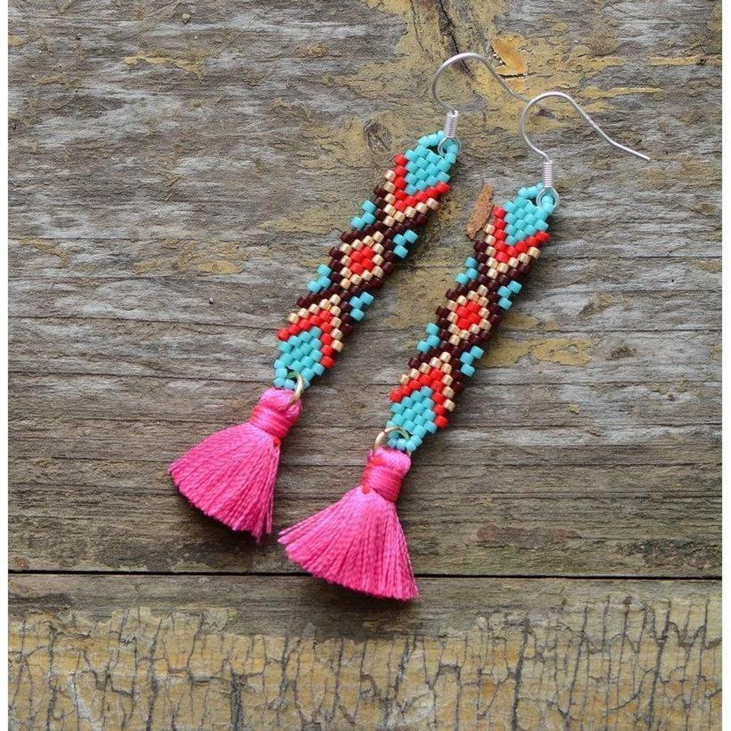 Amitola Drop Earrings-Earrings-Freya Branwyn