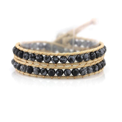 Back to Black Vegan Wrap-Bracelet-Freya Branwyn