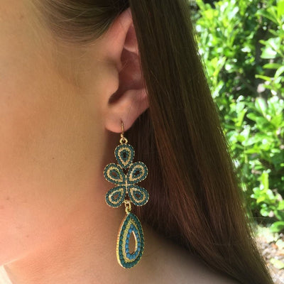 Elysia Bohemian Drop Earrings-Earrings-Freya Branwyn