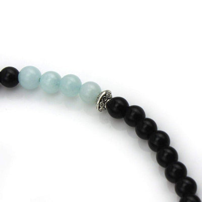 Handtied Amazonite and Kingstone Necklace-Necklace-Freya Branwyn
