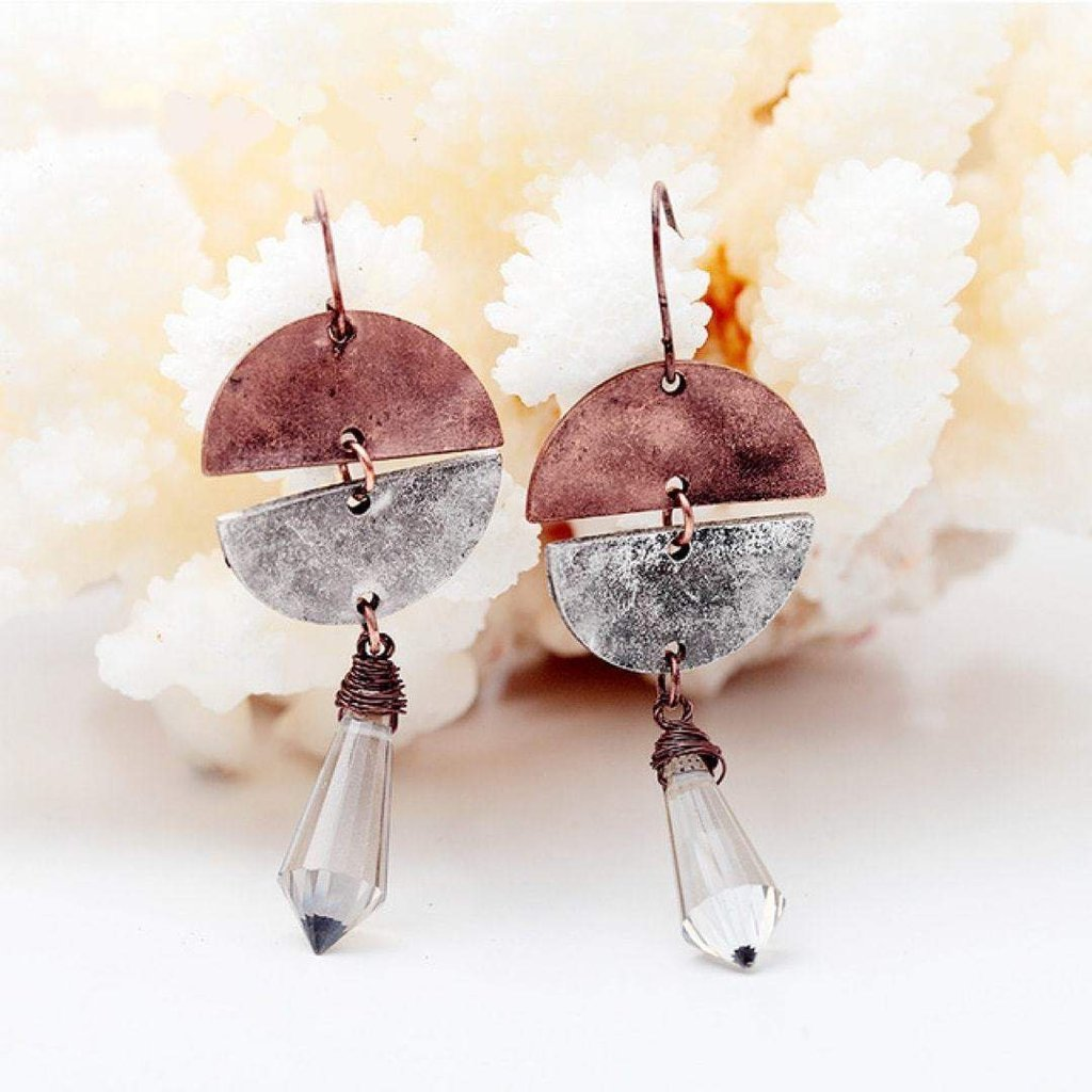 Luna Drop Earrings-Earrings-Freya Branwyn