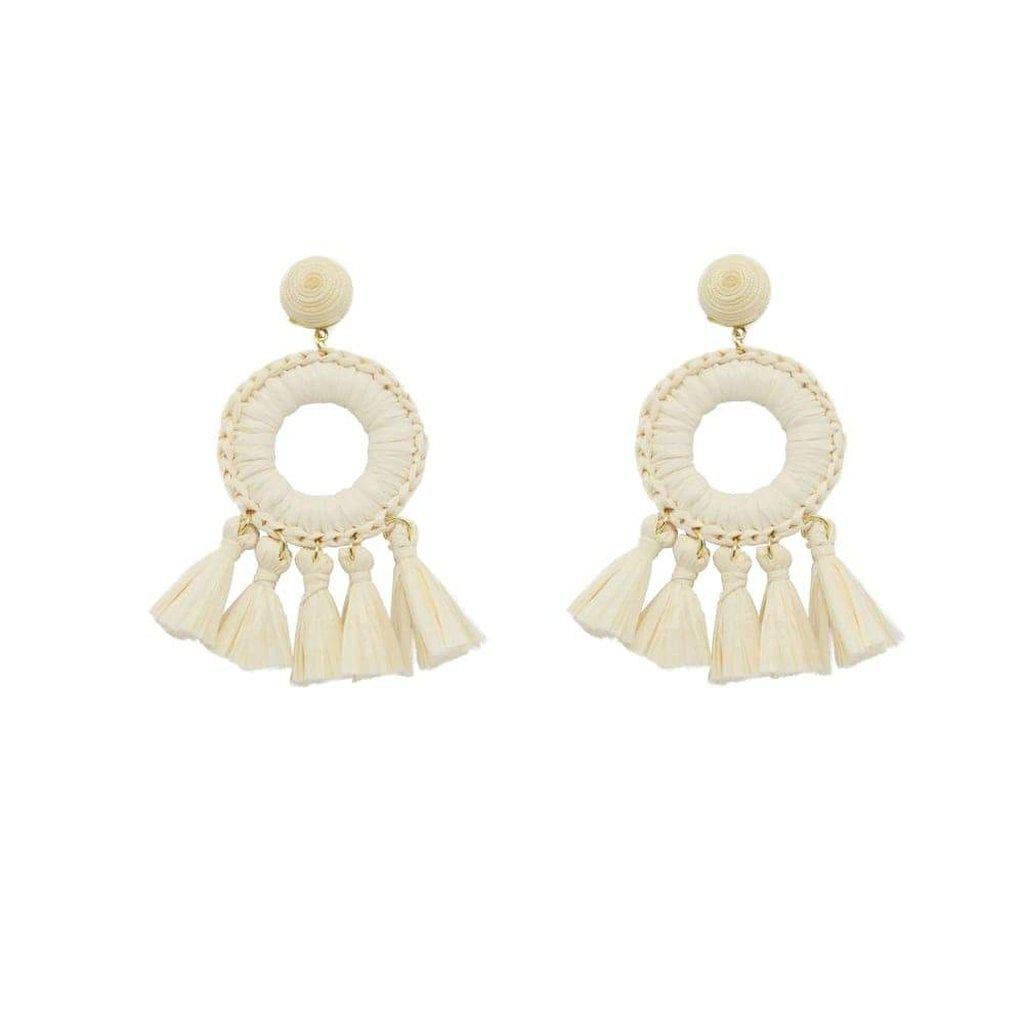 Taini Raffia Earrings-Earrings-Freya Branwyn