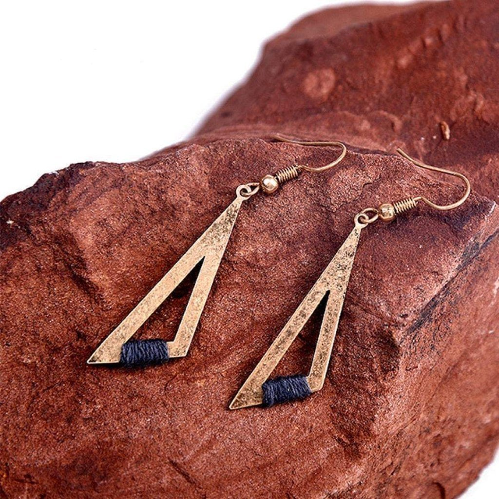 Tria Geometric Earrings-Earrings-Freya Branwyn