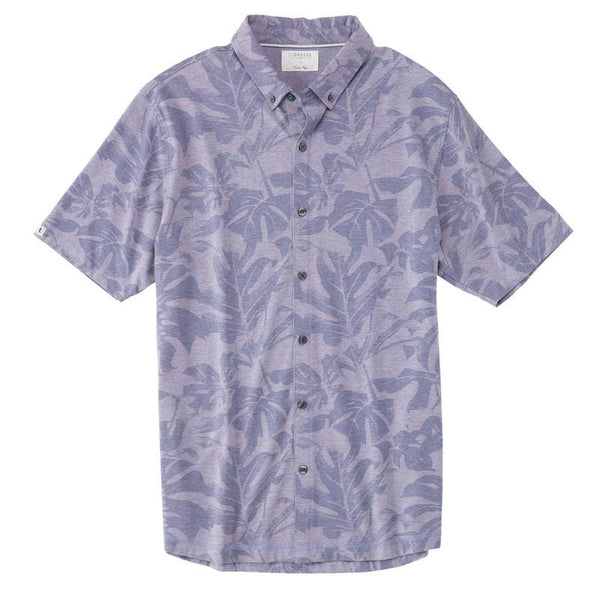 LINKSOUL ANZA MONSTERA PRINT BUTTON-DOWN SHIRT - Miami Golf