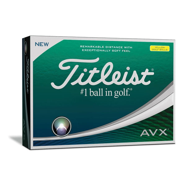 TITLEIST AVX YELLOW GOLF BALL