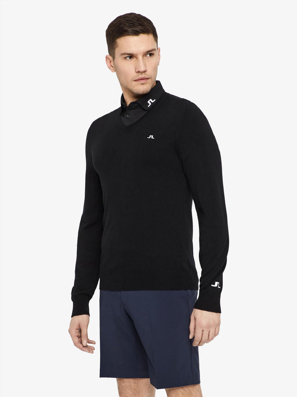 J LINDEBERG M LYMANN TOUR MERINO MEN'S GOLF SWEATER - Miami Golf