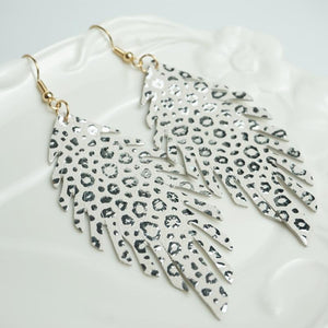 Leather Earrings - Charlie Blu