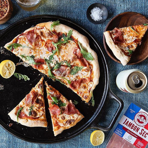 Jambon Sec on Pizza | Revittle