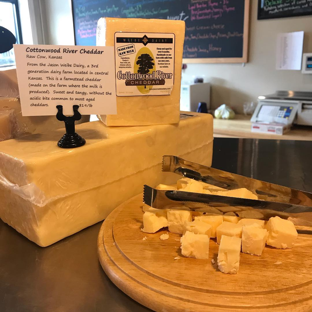 Jason Wiebe Dairy Cottonwood River Cheddar | Revittle