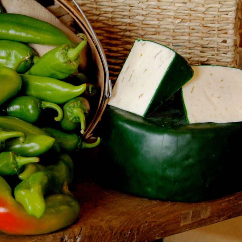 Haystack Mountain Green Chile Goat Jack Wheel and Cuts | Revittle