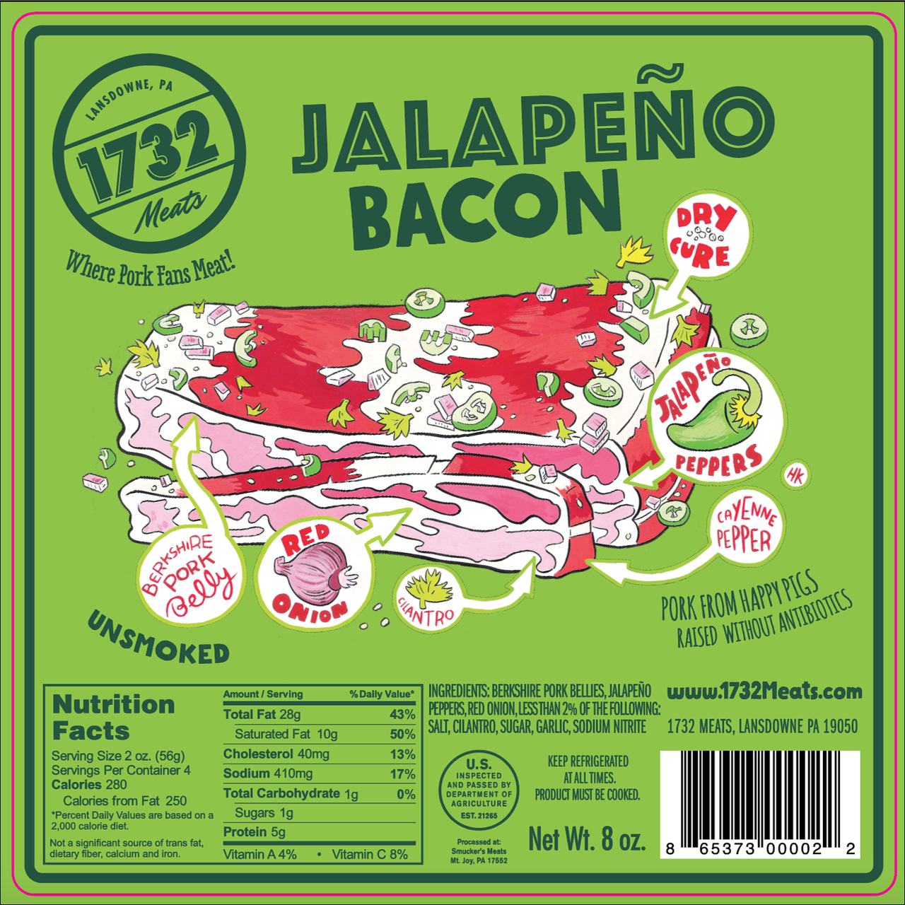 1732 Meats Jalapeno Bacon