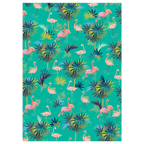 GREEN FLAMINGO WRAP