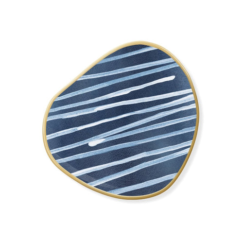 INDIGO STRIPES TRAY SMALL