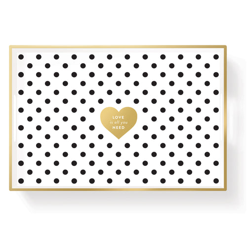 LOVE DOT LACQUERED SMALL TRAY
