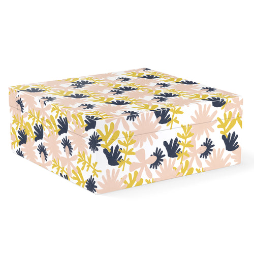 BOLD FLORAL DESERT SQUARE LACQUERED LARGE BOX