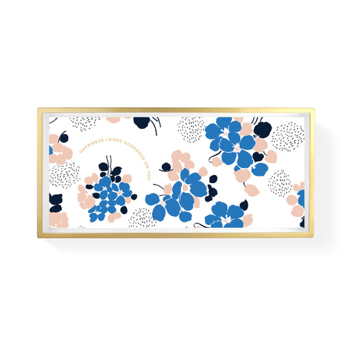 BLUE BOUQUET PENCIL TRAY