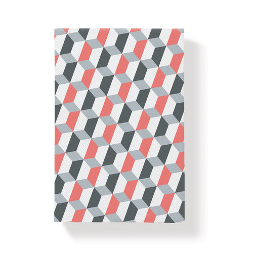 GEO POCKET CORAL LARGE NOTEPAD