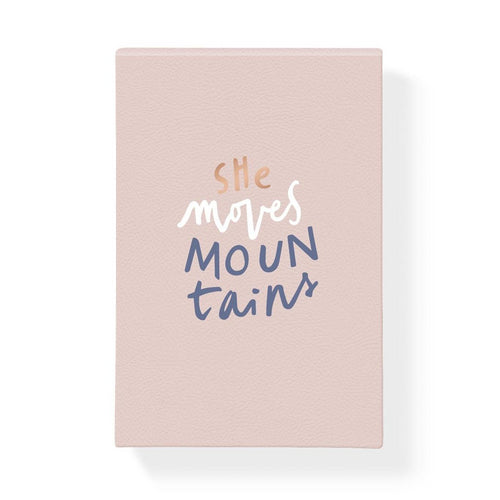 SHE MOVES MOUNTAINS LARGE NOTEPAD