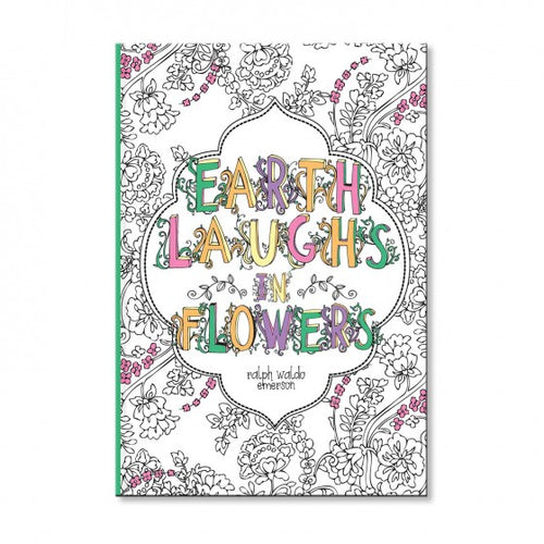 Earth Laughs Flowers Coloring Book