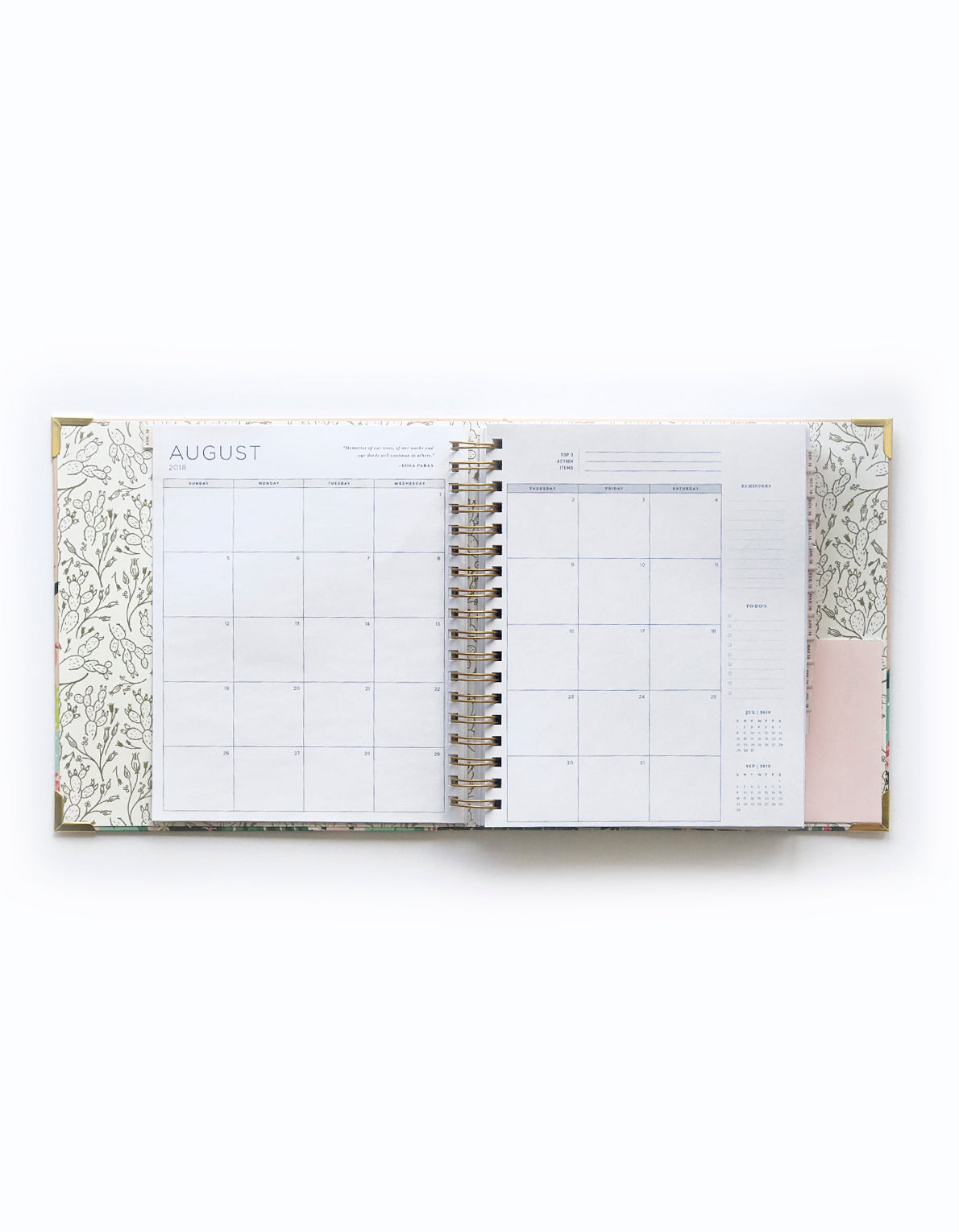 2019 LARGE PLANNER - PRICKLY PEAR