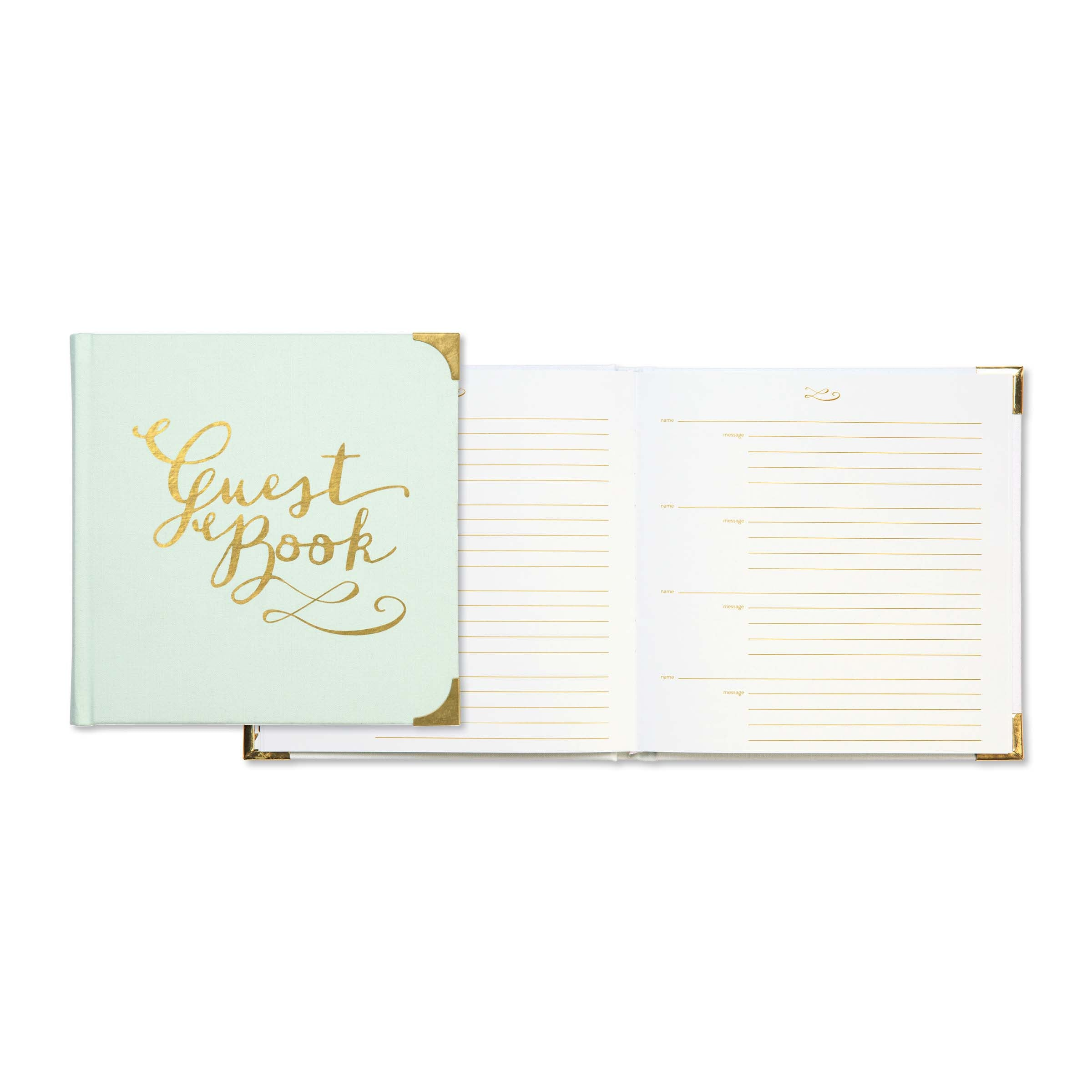 Gilded Mint Deluxe Guest Book