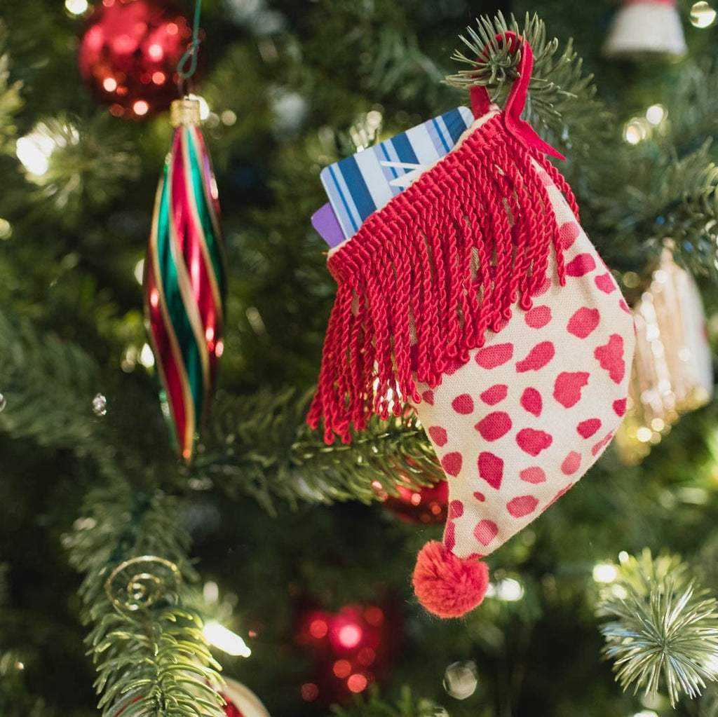 Dotty Print Gift Card Stocking