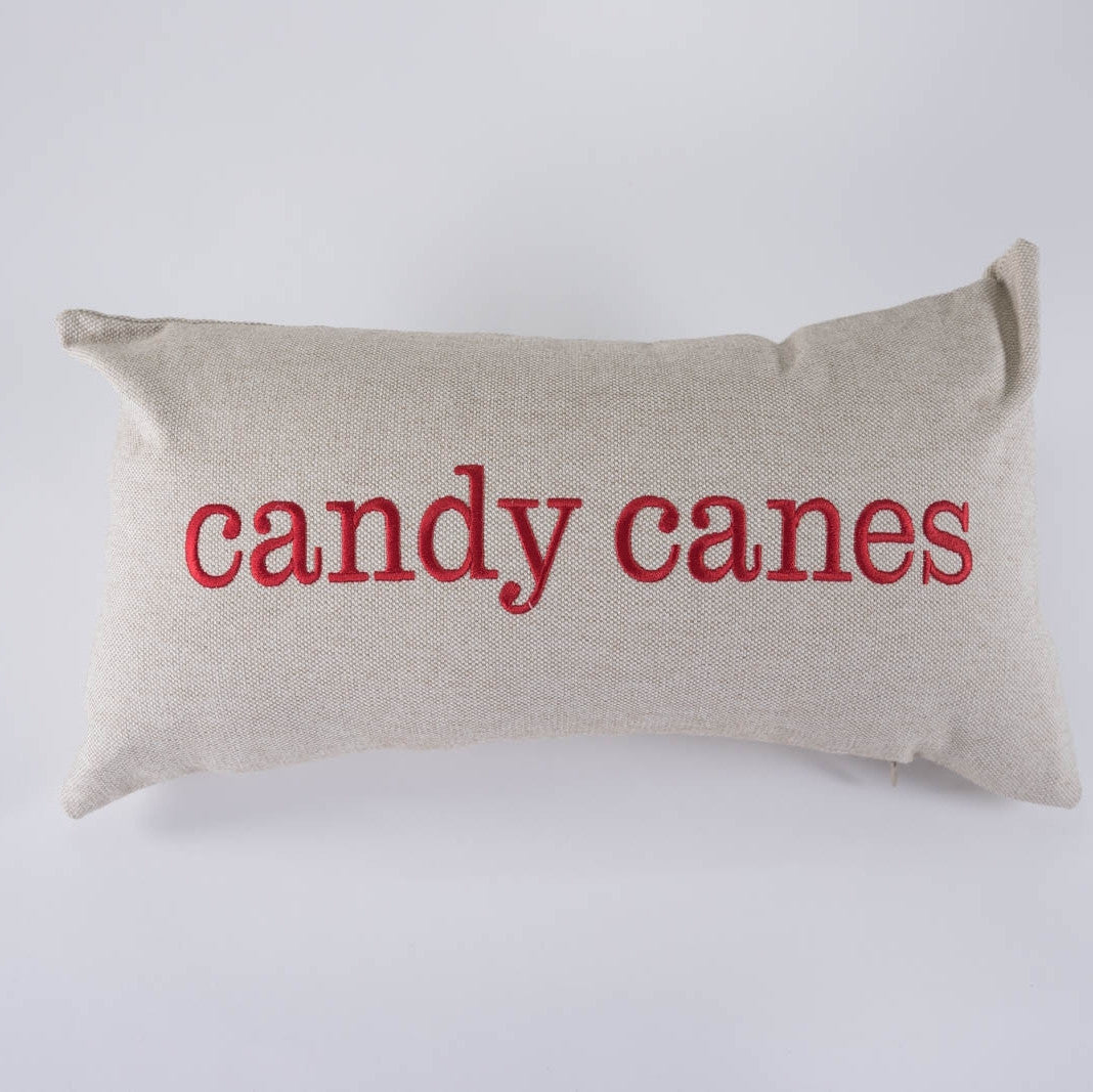 Candy Canes Pillow