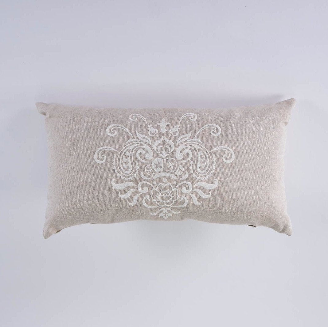 Jacobean Crest Pillow