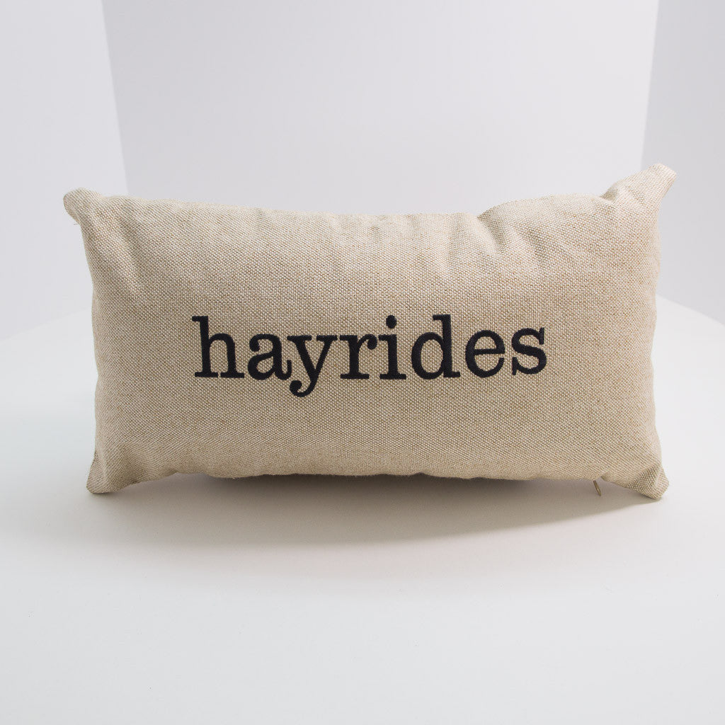 Hayrides Pillow