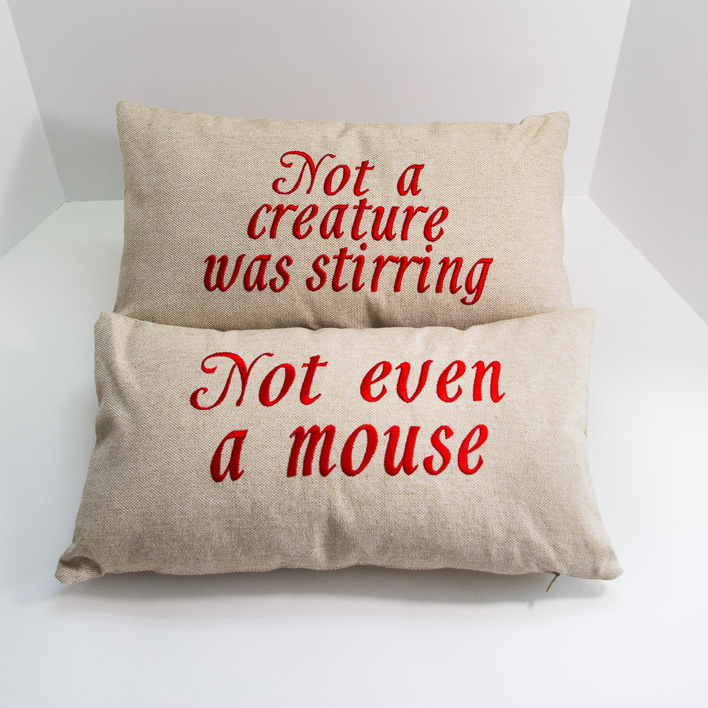 Not a Creature Was Stirring Pillow