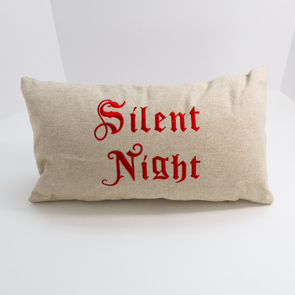 Traditional Silent Night Pillow