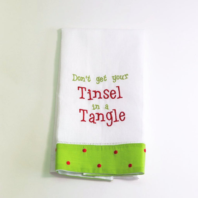 Tinsel in a Tangle Towel