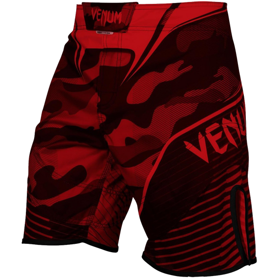 Venum Camo Hero Fight Shorts in Red