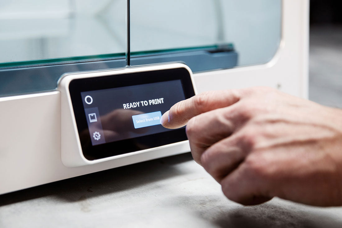 An integrated touchscreen allows easy, intuitive control