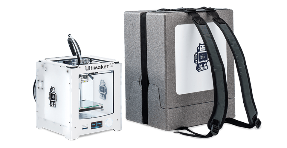 Ultimaker go with portable backpack
