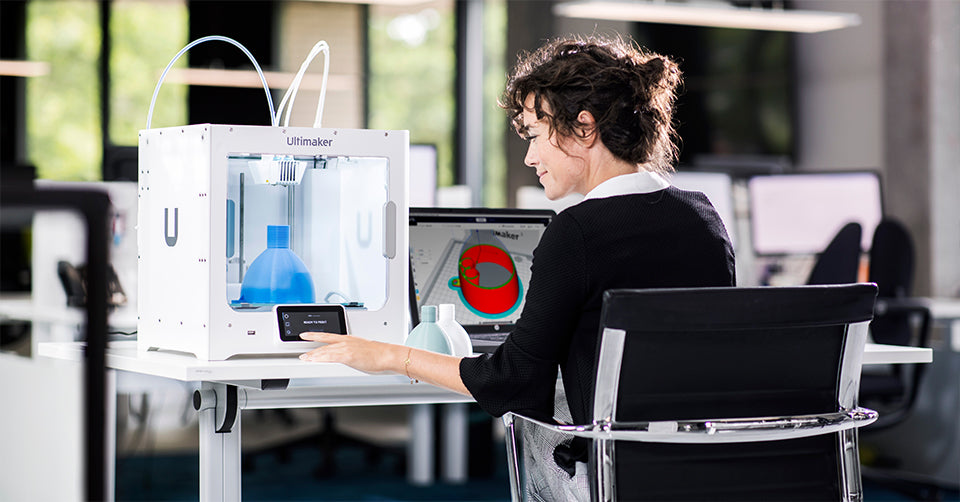 The touch screen on the Ultimaker S3 makes 3D printing even easier