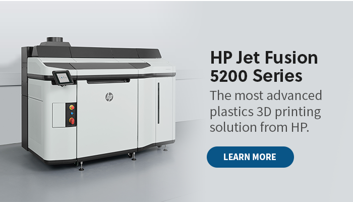 The HP Jet Fusion 5200 Series 3D Printer